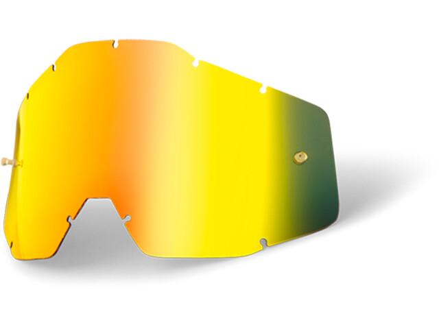 100% Udskifteligt brilleglas, gold / mirror